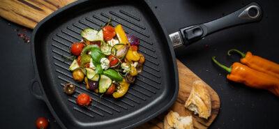 Patelnia grillowa - grillowane warzywa